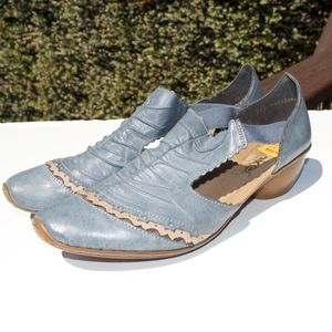 Rieker Denim Blue Comfort Shoes 41 10 11